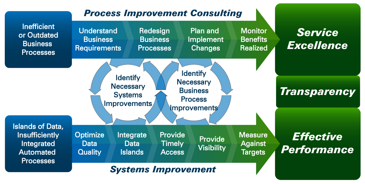 Trans Wolrd Health Services Process and Systems improvement diagram
